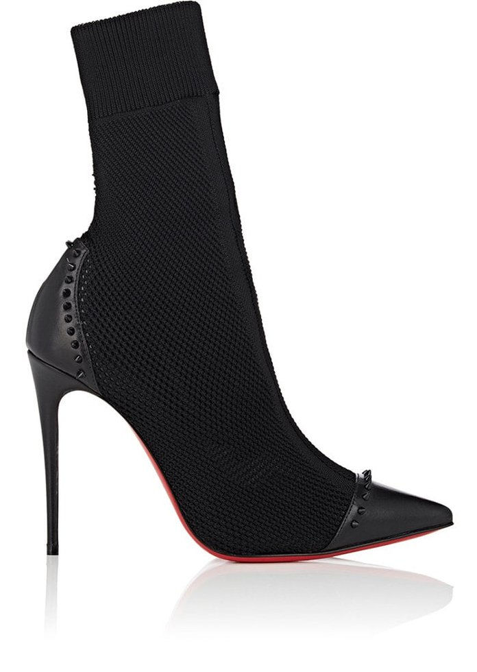 Χριστιανός Louboutin Dovi Dova Knit & Leather Ankle Boots