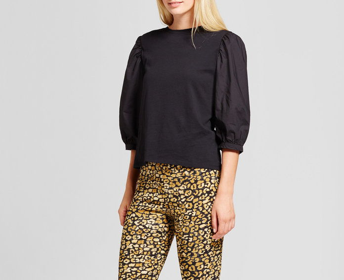 Кой What Wear Billow Long Sleeve Woven Top