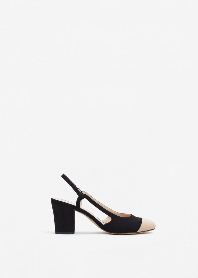Μάνγκο Slingback two-couloured shoes