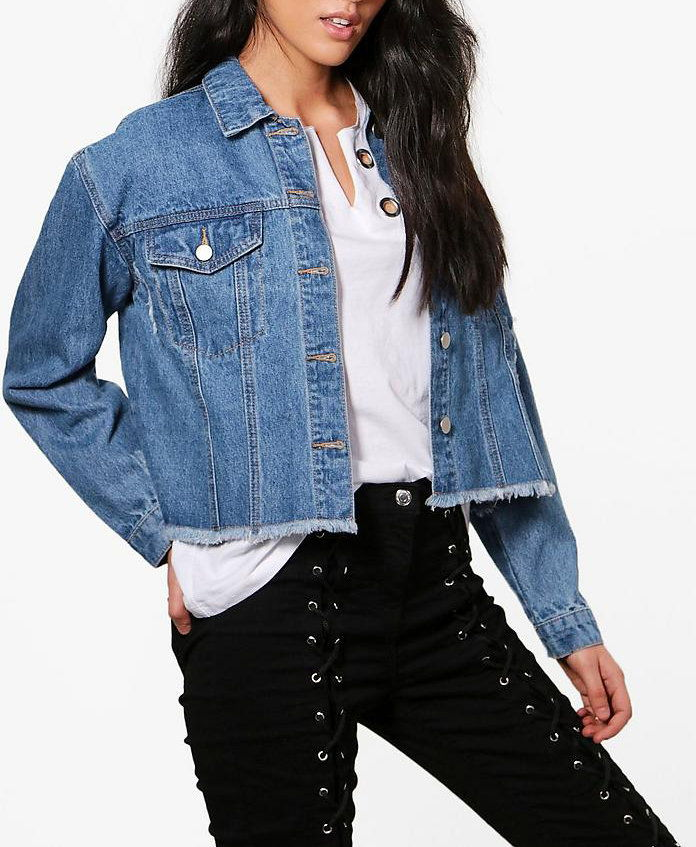 плач Lois Boxy Crop Denim Jacket