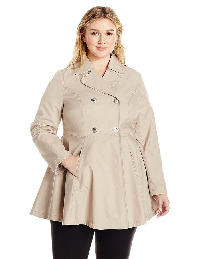 Κορυδαλλός & Ro Plus Size Fit and Flare Trench Coat Coat
