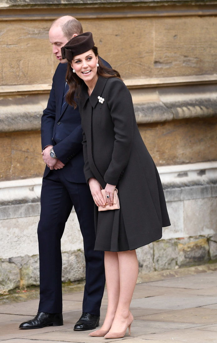 Най- Royal Family Attend Easter Service At St George's Chapel, Windsor