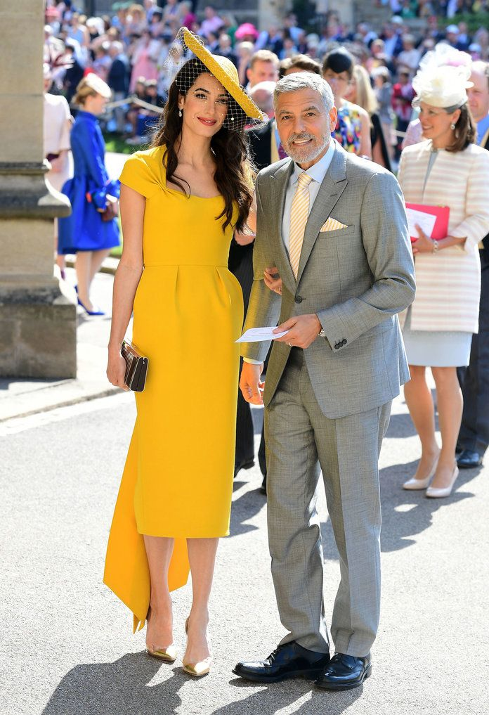Amal and George Clooney embed